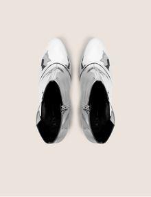 ARMANI EXCHANGE HIGH-SHINE METALLIC BOOT Boots Woman e