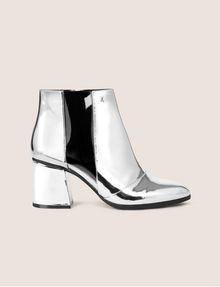 ARMANI EXCHANGE HIGH-SHINE METALLIC BOOT Boots Woman f