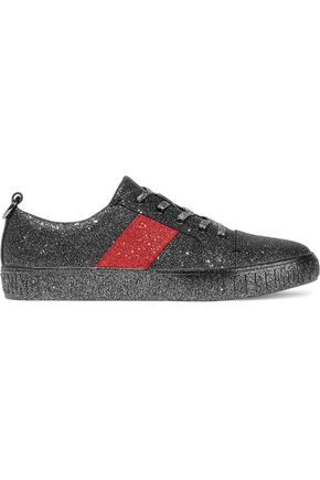 OPENING CEREMONY La Cienaga glittered faux leather sneakers