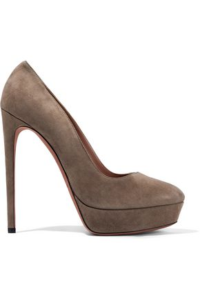 Suede Platform Pumps by AlaÏa