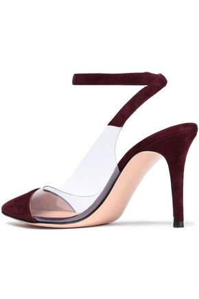 Anise Suede And Perspex Pumps by Gianvito Rossi