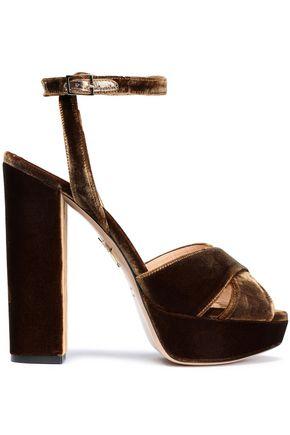 CHARLOTTE OLYMPIA Velvet platform sandals