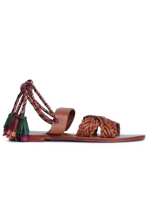 ANTIK BATIK Naty tasseled braided leather sandals