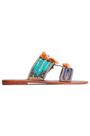 ANTIK BATIK Pallas embellished suede sandals