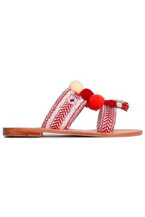 ANTIK BATIK Koshi embellished suede sandals
