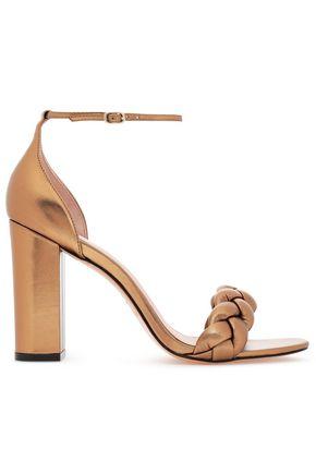 RACHEL ZOE Braided metallic leather sandals