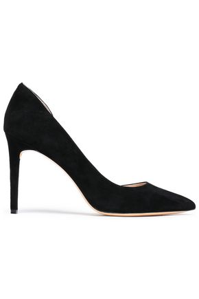 RACHEL ZOE London suede pumps