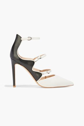 RACHEL ZOE Phoenix two-tone leather pumps