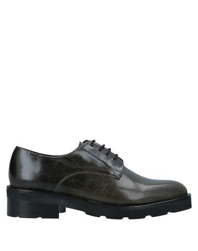 Купить Обувь на шнурках темно-зеленого цвета
