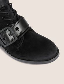 ARMANI EXCHANGE VELVET BUCKLE BOOTS Boots [*** pickupInStoreShipping_info ***] a