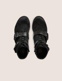 ARMANI EXCHANGE VELVET BUCKLE BOOTS Boots [*** pickupInStoreShipping_info ***] e
