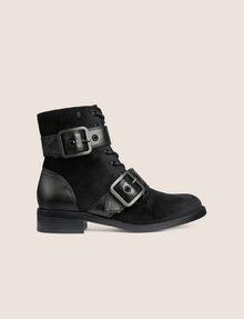 ARMANI EXCHANGE VELVET BUCKLE BOOTS Boots [*** pickupInStoreShipping_info ***] f