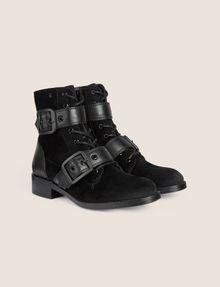 ARMANI EXCHANGE VELVET BUCKLE BOOTS Boots [*** pickupInStoreShipping_info ***] r