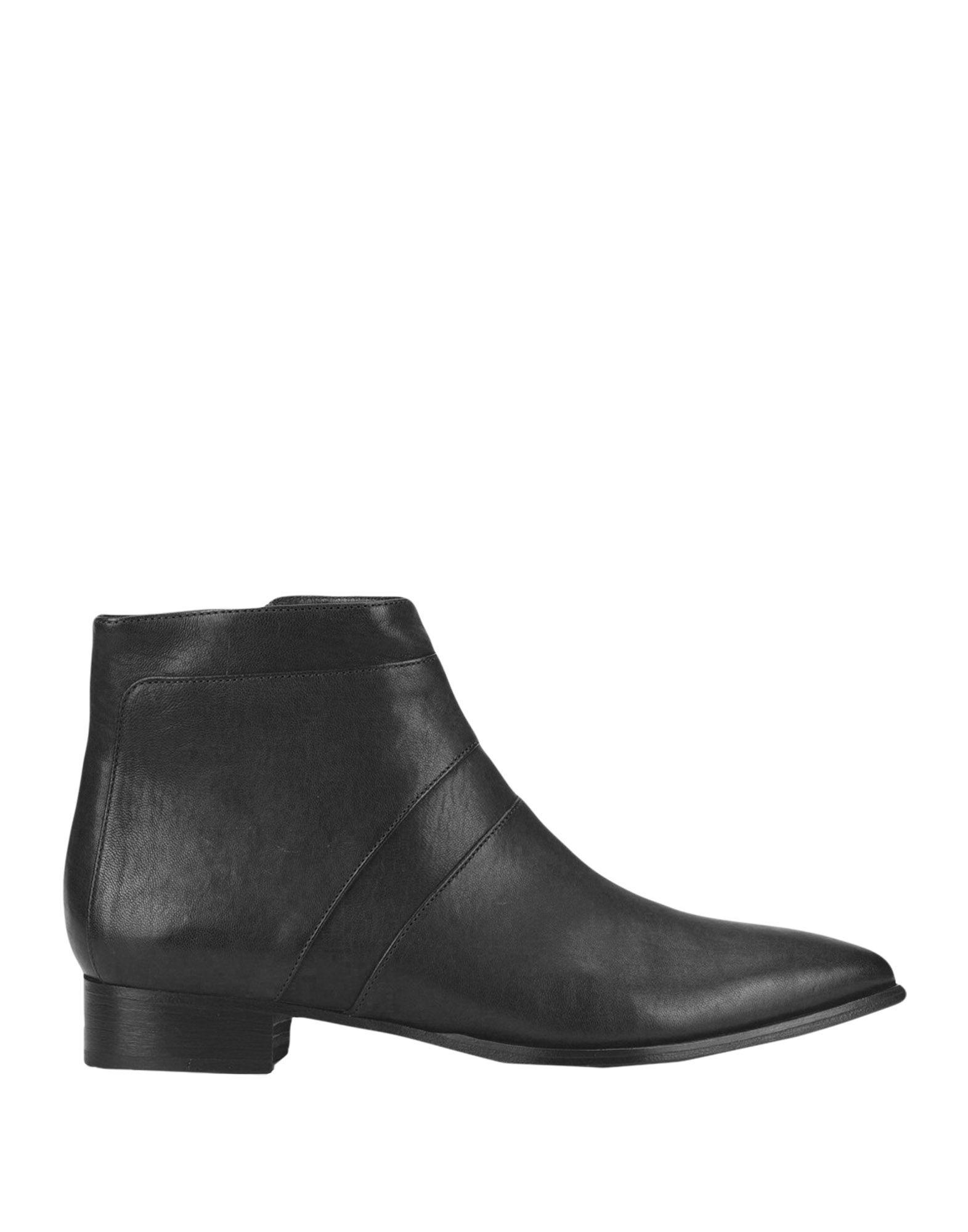 《送料無料》ALBERTO FERMANI レディース ショートブーツ ブラック 37 牛革(カーフ) 100%