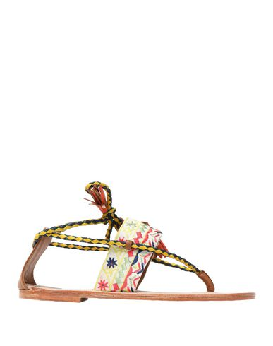 Купить Женские сандали  желтого цвета