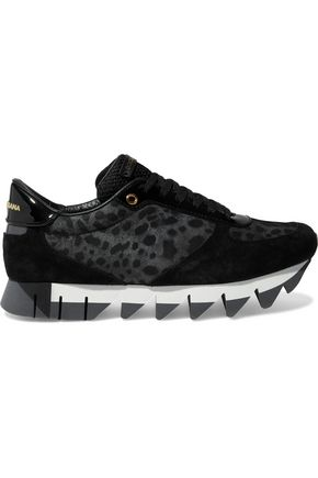 DOLCE & GABBANA Paneled leather sneakers