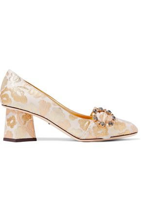 DOLCE & GABBANA Embellished brocade pumps