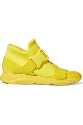 CHRISTOPHER KANE Buckled neoprene high-top sneakers