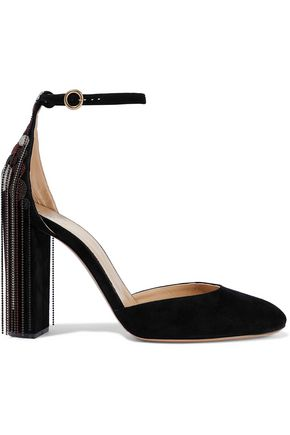 CHLOÉ Bead-embellished suede pumps