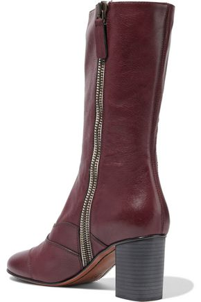 CHLOÉ Lexie paneled leather boots