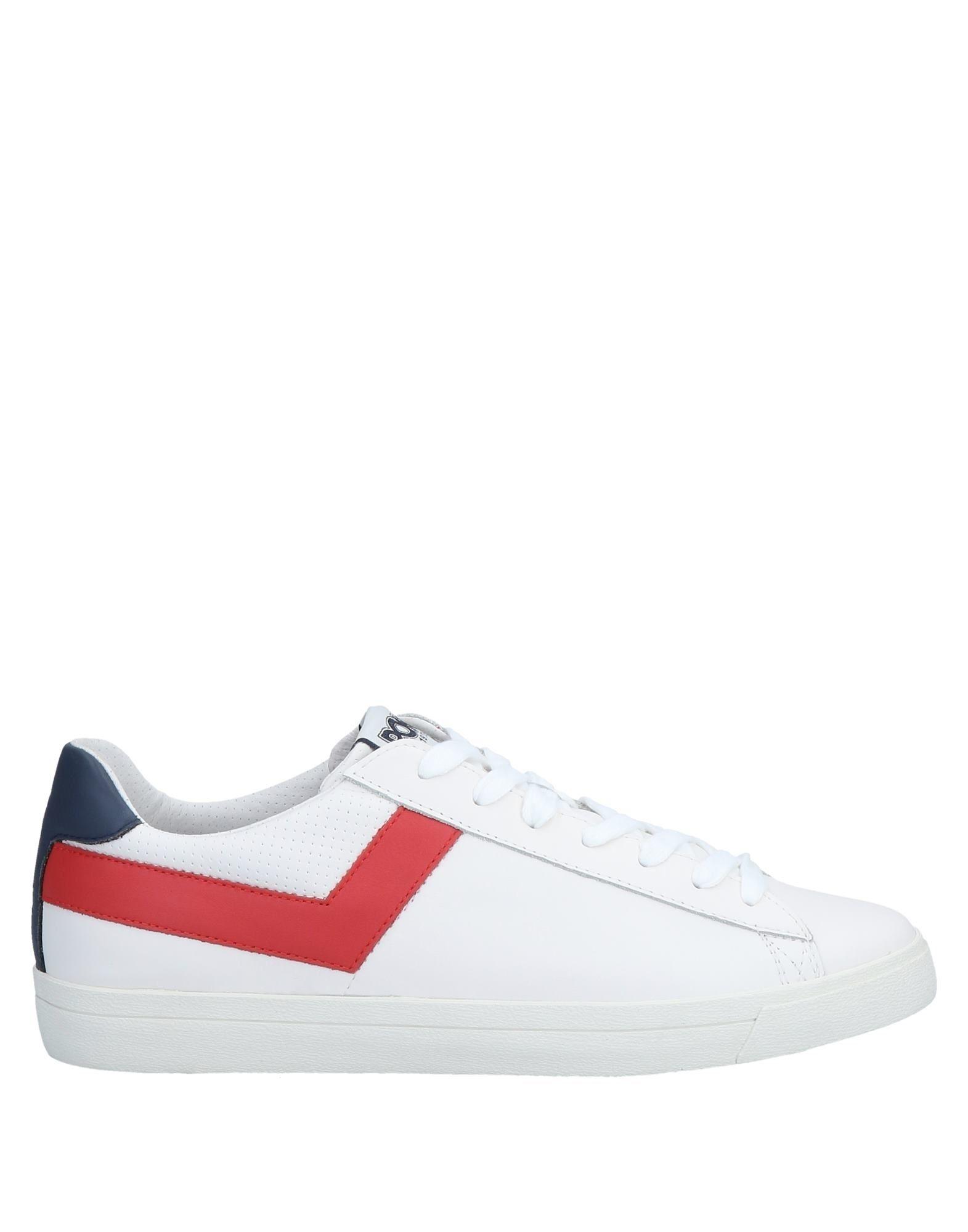 《送料無料》PONY メンズ スニーカー&テニスシューズ(ローカット) ホワイト 42 革