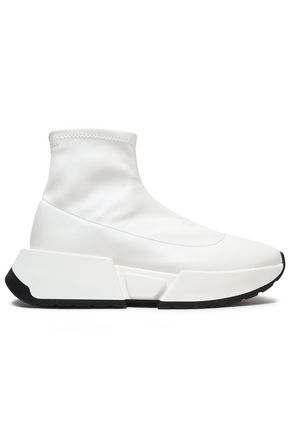 Faux Leather High Top Sneakers by Mm6 By Maison Margiela