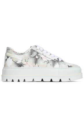 MM6 MAISON MARGIELA Leather high-top sneakers