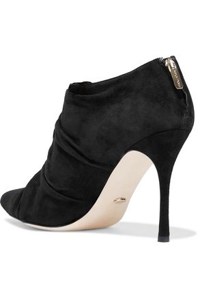 SERGIO ROSSI Knotted suede ankle boots