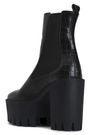 STELLA McCARTNEY Croc-effect faux leather platform ankle boots