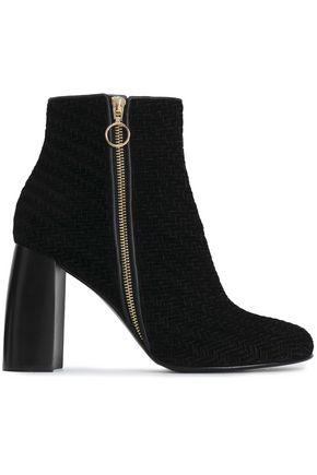 STELLA McCARTNEY Woven velvet ankle boots