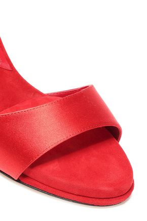 PAUL ANDREW Silk-satin and suede sandals
