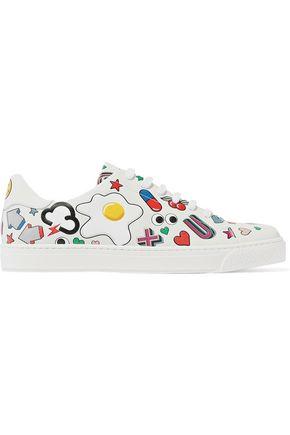 ANYA HINDMARCH Printed leather sneakers