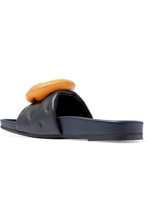 ANYA HINDMARCH Two-tone leather slides
