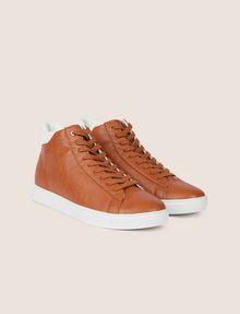 ARMANI EXCHANGE LIZARD-EMBOSSED HIGH-TOP SNEAKER Sneakers Man r
