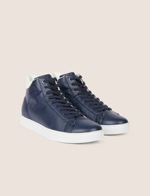ARMANI EXCHANGE LIZARD-EMBOSSED HIGH-TOP SNEAKER Sneakers Man r