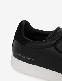ARMANI EXCHANGE SUEDE-TRIMMED LOW-TOP SNEAKER Sneaker [*** pickupInStoreShippingNotGuaranteed_info ***] a