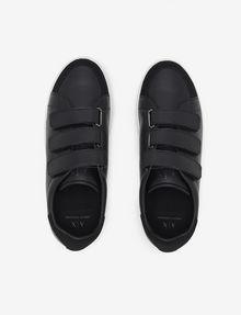 ARMANI EXCHANGE SUEDE-TRIMMED LOW-TOP SNEAKER Sneaker [*** pickupInStoreShippingNotGuaranteed_info ***] e