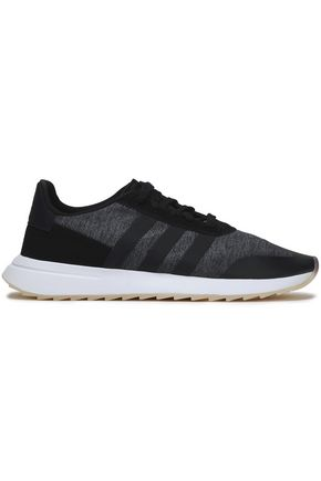 ADIDAS ORIGINALS Suede, leather and stretch-knit sneakers