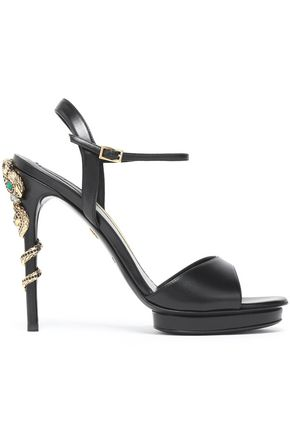 ROBERTO CAVALLI Embellished leather sandals