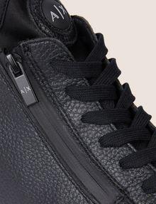 ARMANI EXCHANGE TEXTURED ZIP-UP HIGH-TOP SNEAKER Sneaker Man a