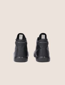 ARMANI EXCHANGE TEXTURED ZIP-UP HIGH-TOP SNEAKER Sneaker Man d