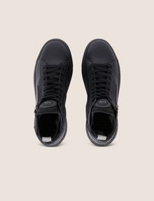 ARMANI EXCHANGE TEXTURED ZIP-UP HIGH-TOP SNEAKER Sneaker Man e