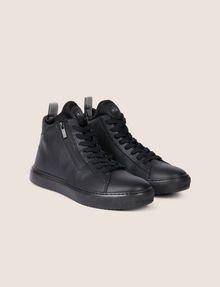 ARMANI EXCHANGE TEXTURED ZIP-UP HIGH-TOP SNEAKER Sneaker Man r