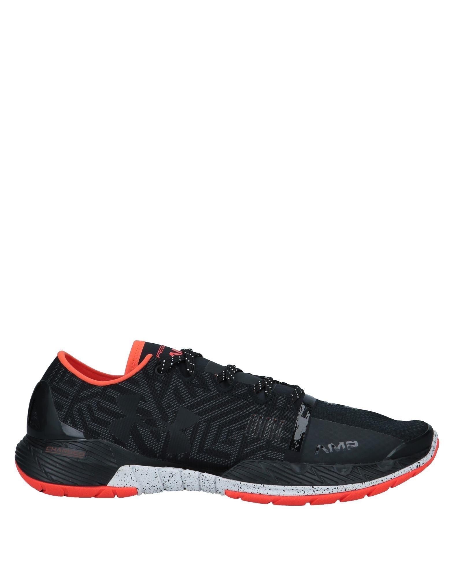 《送料無料》UNDER ARMOUR メンズ スニーカー&テニスシューズ(ローカット) ブラック 8 紡績繊維