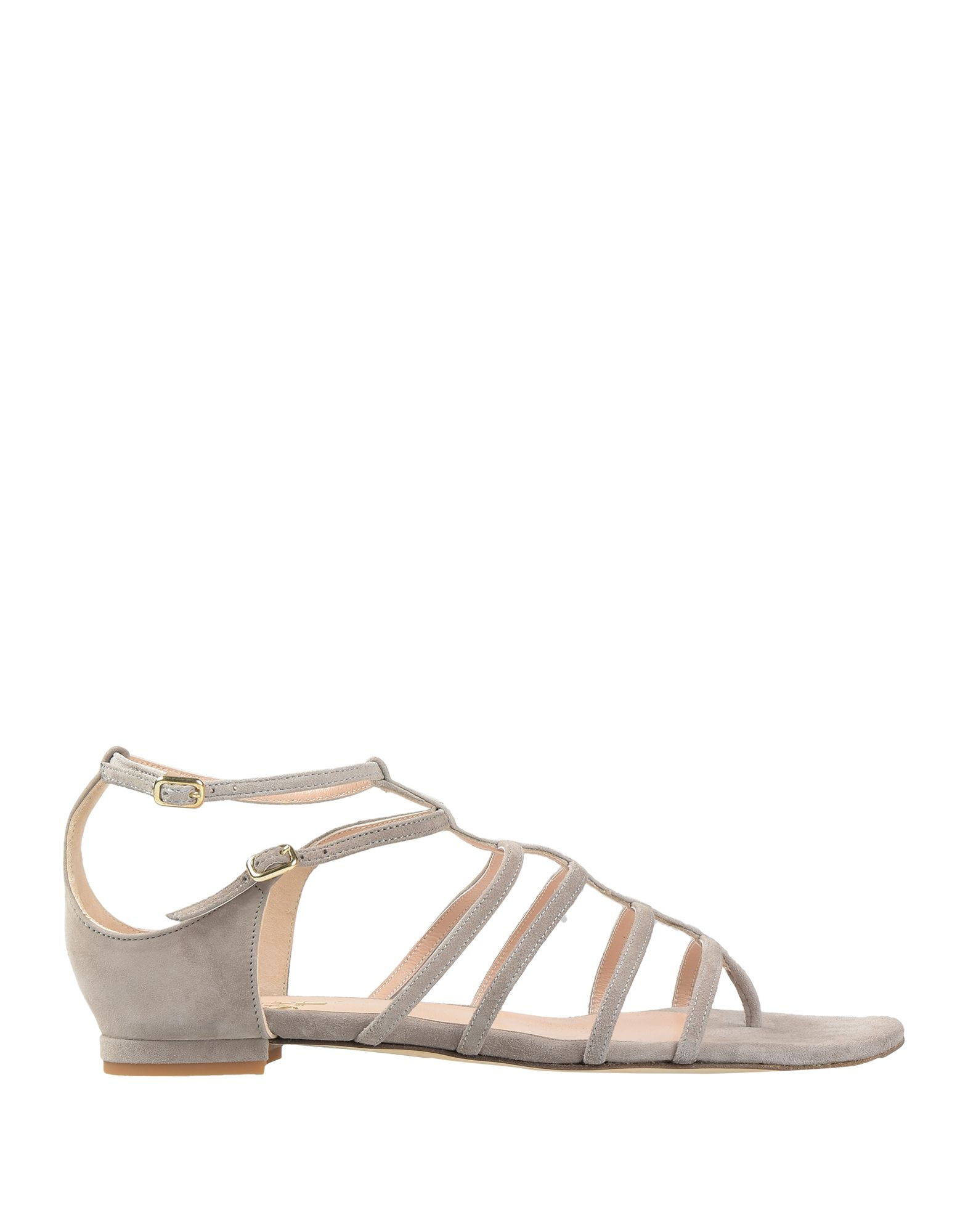 ELEVENTY Toe strap sandals. suede effect, no appliqués, solid color, buckle, round toeline, flat, leather lining, leather sole, contains non-textile parts of animal origin. Soft Leather