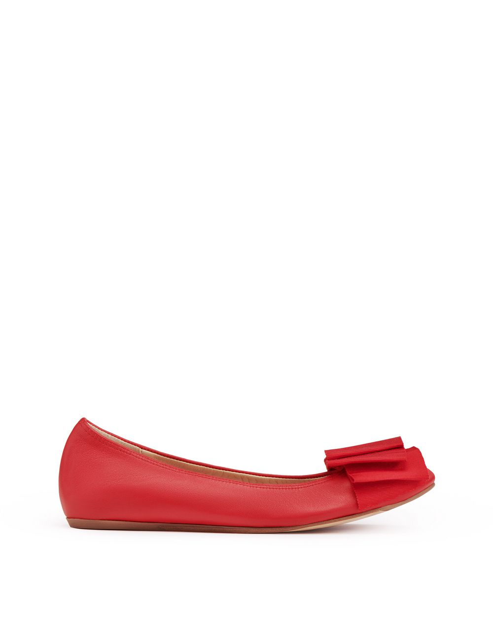 BALLET FLAT WITH POPPY BOW - Lanvin