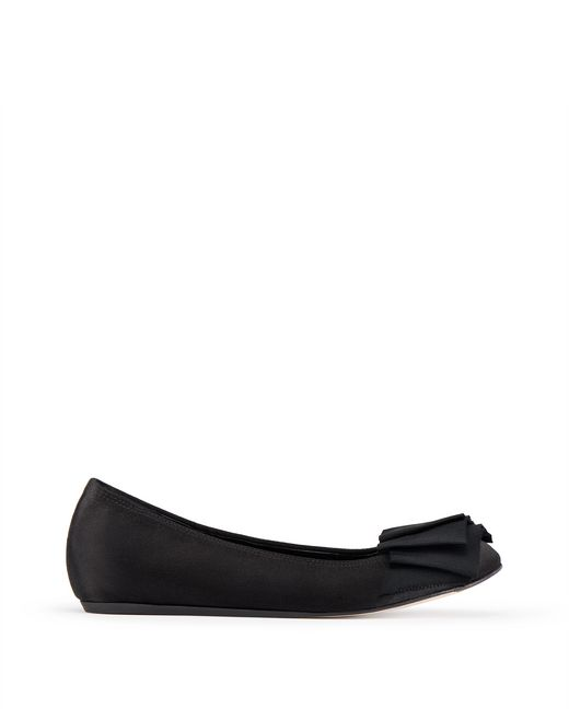 BALLET FLAT WITH BLACK BOW - Lanvin