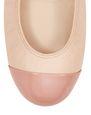 LANVIN Ballerinas Woman NUDE CAP TOE BALLET FLAT f