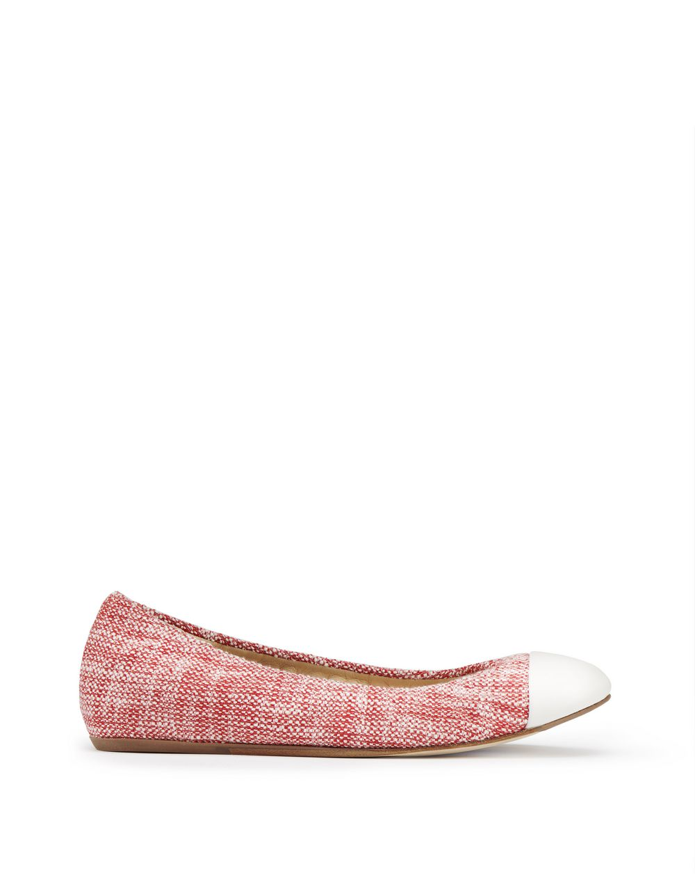 POPPY TWEED CAP TOE BALLET FLAT - Lanvin