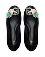 LANVIN Ballerinas Woman CLASSIC BLACK EMBROIDERED BALLET FLAT f